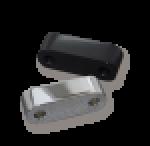 Fußrastendistanz 25 mm rechts für FXST -Bj. 99 chrom u. schwarz
